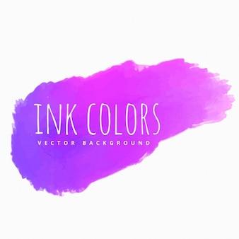 Viola schizzi inchiostro rosa