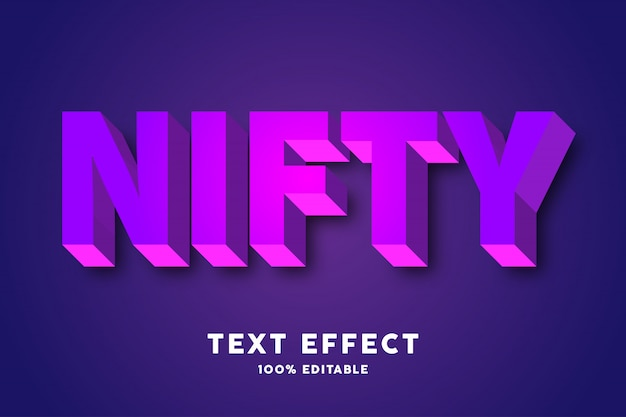 Purple pink text style effect