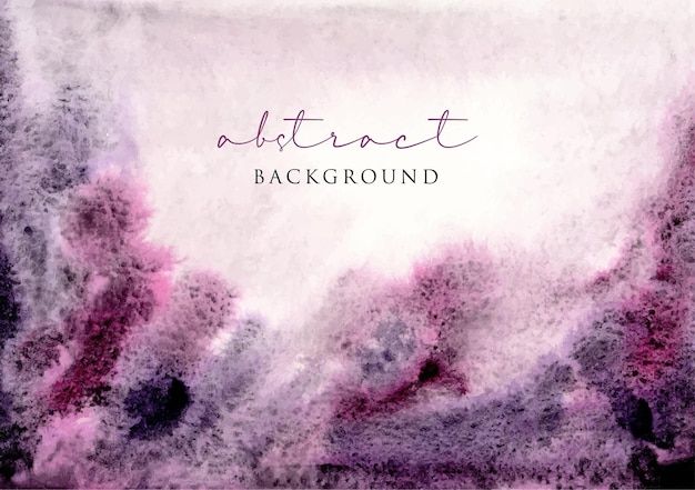 Purple pink watercolor abstract background