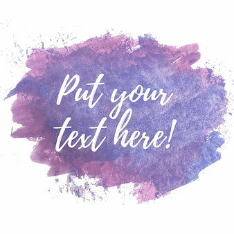 Purple and pink watercolor brushes with text template