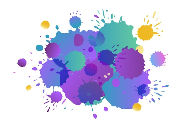 Purple pink yellow vector watercolor background watercolor splashes on textured background water