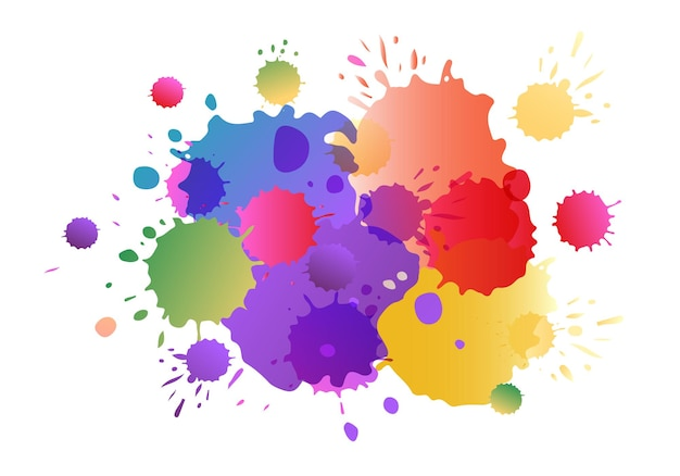 Purple pink yellow vector watercolor background watercolor splashes on textured background