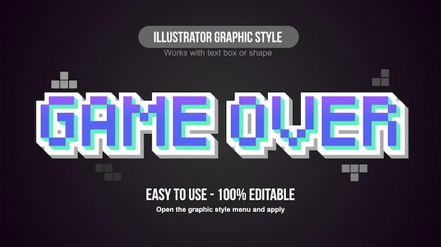 보라색 픽셀 3d 게임 인쇄술