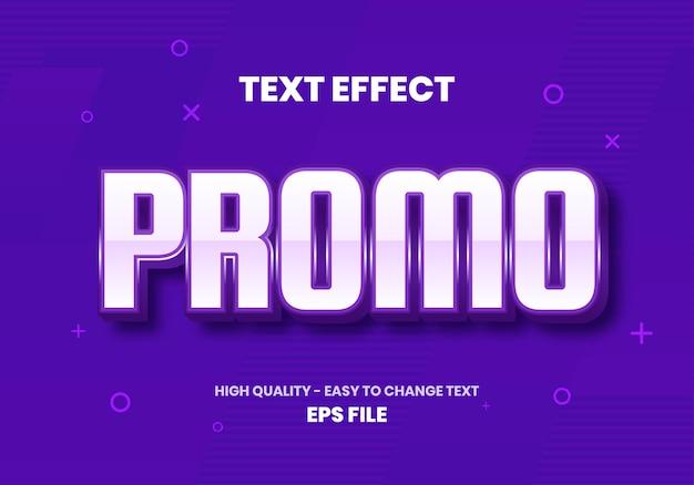 Purple promo text teffect