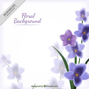 Purple and realistic floral background