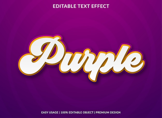 Purple retro text effect premium style