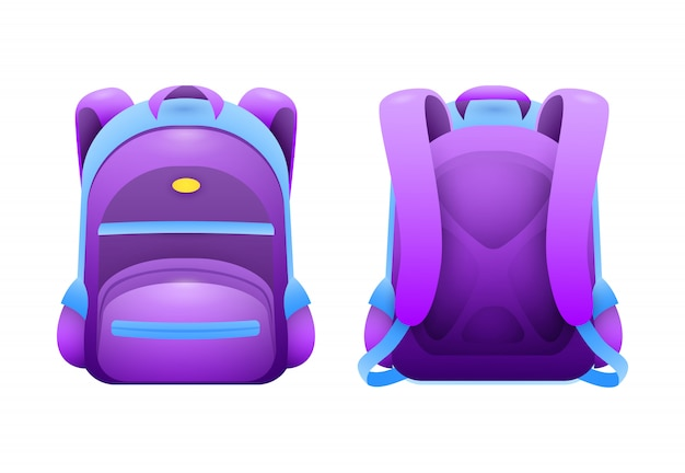 Purple school bag