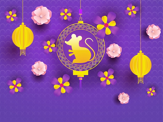Purple seamless circle dots background.