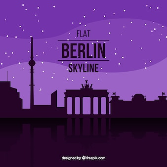 Purple skyline of berlin