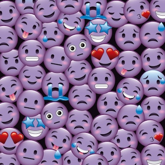 보라색 미소 이모티콘 벽지
