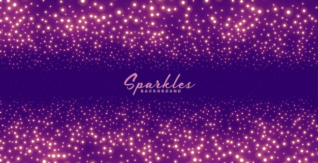 Purple sparkles background for festival celebration theme