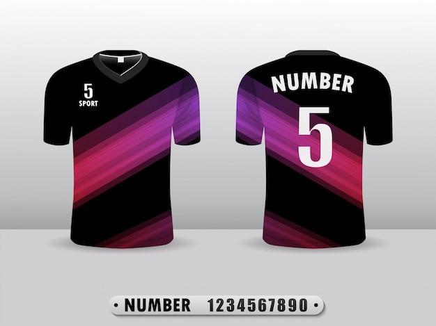 紫色のスポーツシャツ。