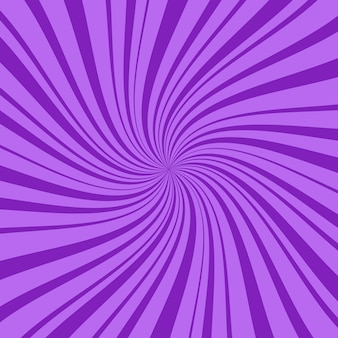 Purple square abstract background with thin and thick radial rays, lines or stripes swirling around center. geometric backdrop with hallucination or hypnosis effect. creative illustration.