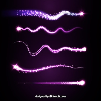 Purple star trail set