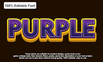 Purple sticker text effect