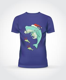 Фиолетовый дизайн футболки майки