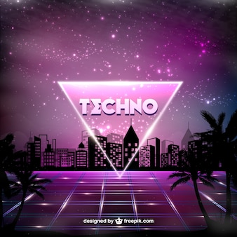 Purple techno poster