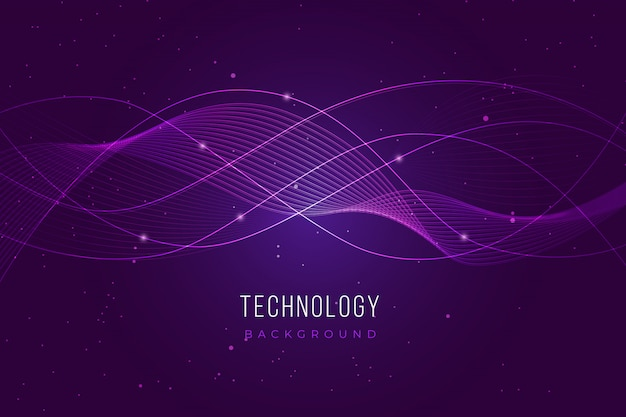Purple technology background