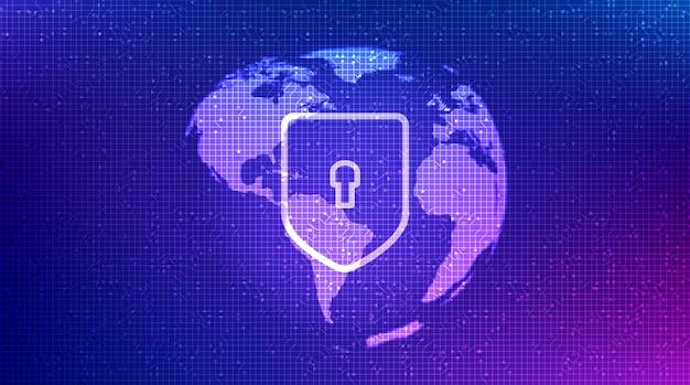 Purple technology shield security