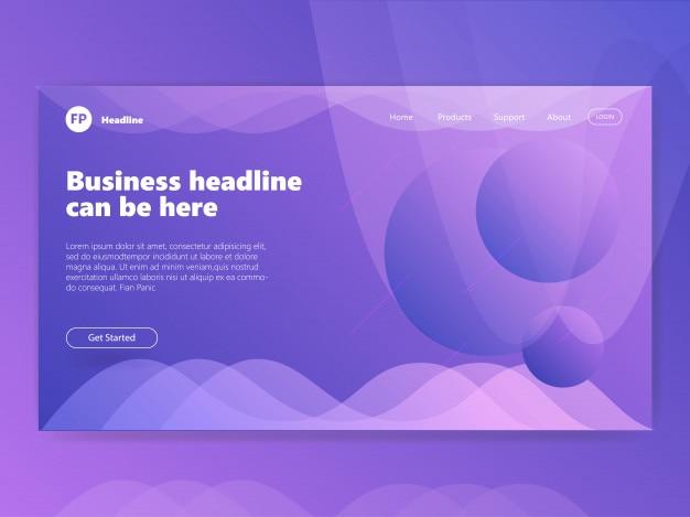 Purple template concept based landing page design