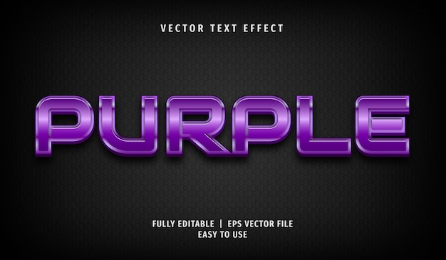 Purple text effect, editable text style