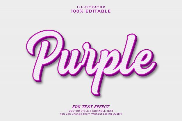 Purple text effect style, editable font premium