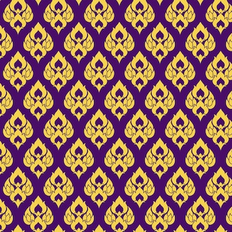 Purple thai fabric pattern