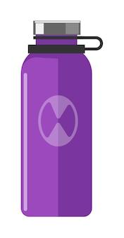 白い背景で隔離の紫色の魔法瓶アイテム