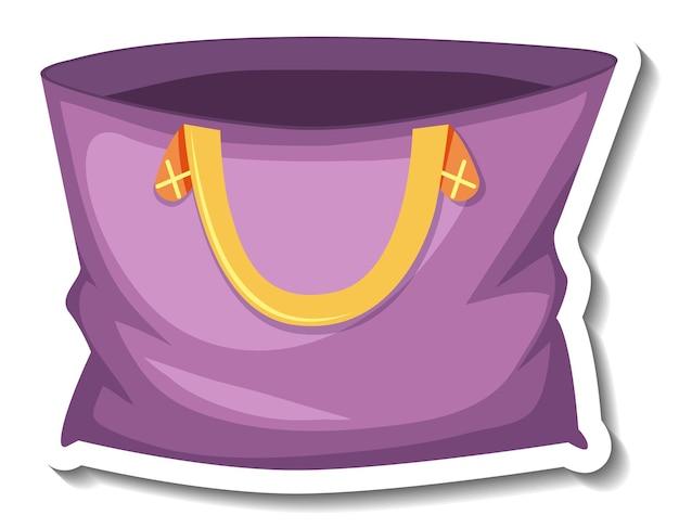 Purple tote bag cartoon sticker
