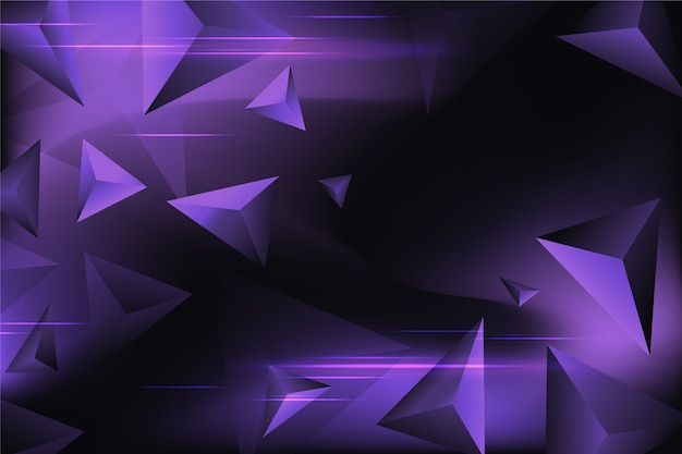 Purple triangle background