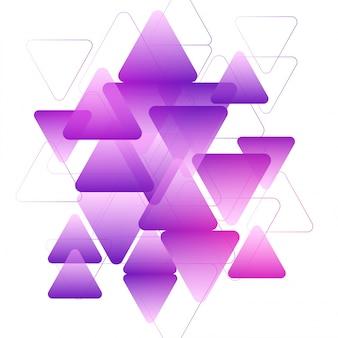Фиолетовый треугольники геометрические элементы, творческий абстрактный фон.