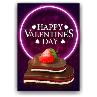 Purple valentine's day cover with chocolate candy