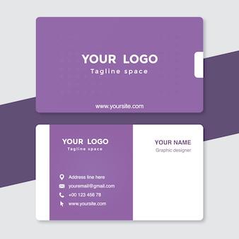 Purple visiting card template