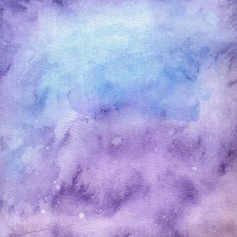 紫の水彩抽象テクスチャ絵画の背景