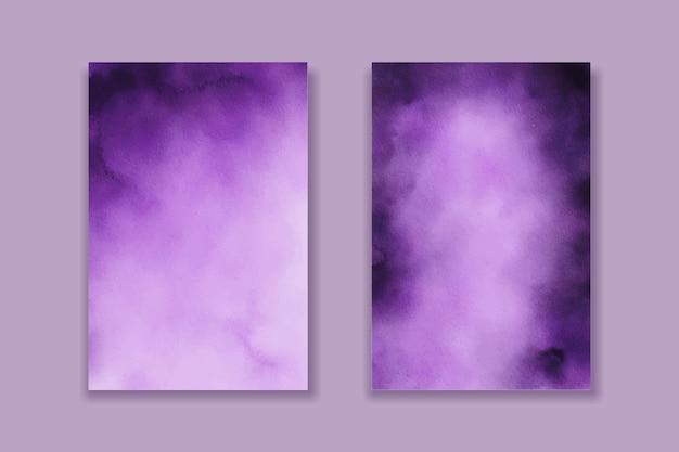보라색 수채화 배경 질감 라벤더 배경 프리미엄 벡터
