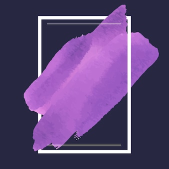 Purple watercolor banner design vector