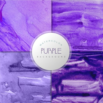 Purple watercolor effect background collection