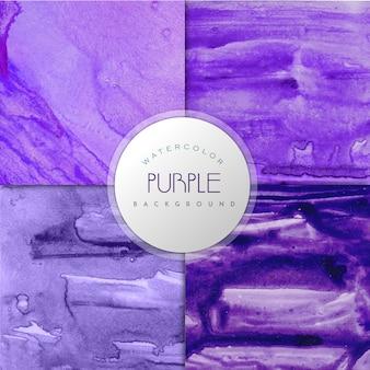 Фиолетовая коллекция фона эффекта акварели