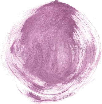 Фиолетовая акварель круглая форма мазка кистью