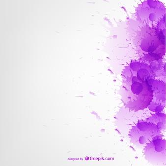 Purple watercolor splatter background