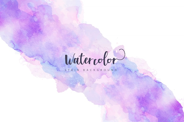 Purple watercolor stain background