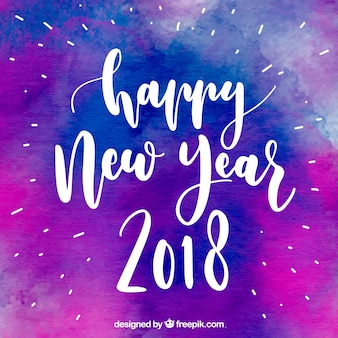 Purple watercolour background for new year