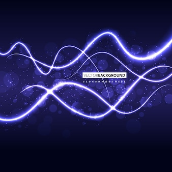 Purple wavy abstract background