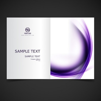 Purple wavy brochure