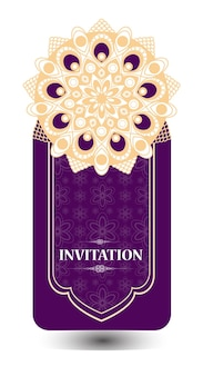 Purple wedding card background