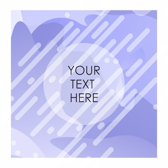 Purple and white background with typography vector