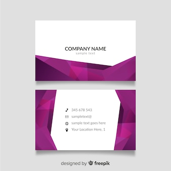 Purple and white business card template