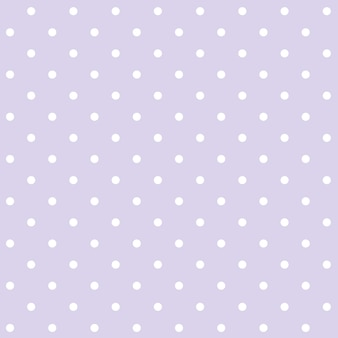 Purple and white seamless polka dot pattern vector