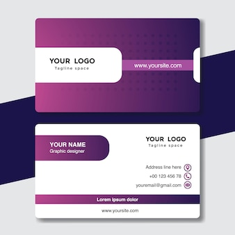 Purple and white vising card template