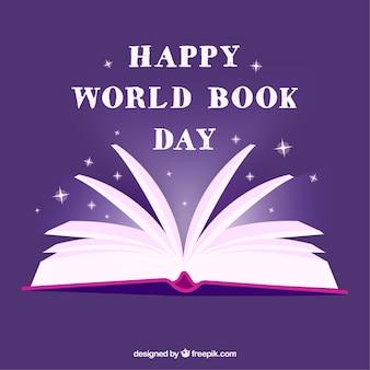 Priorità bassa di giorno del libro di mondo viola